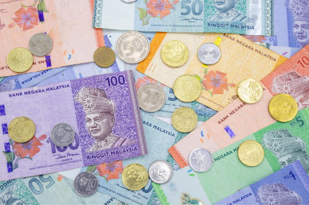 Flatlay of Malaysian Ringgits