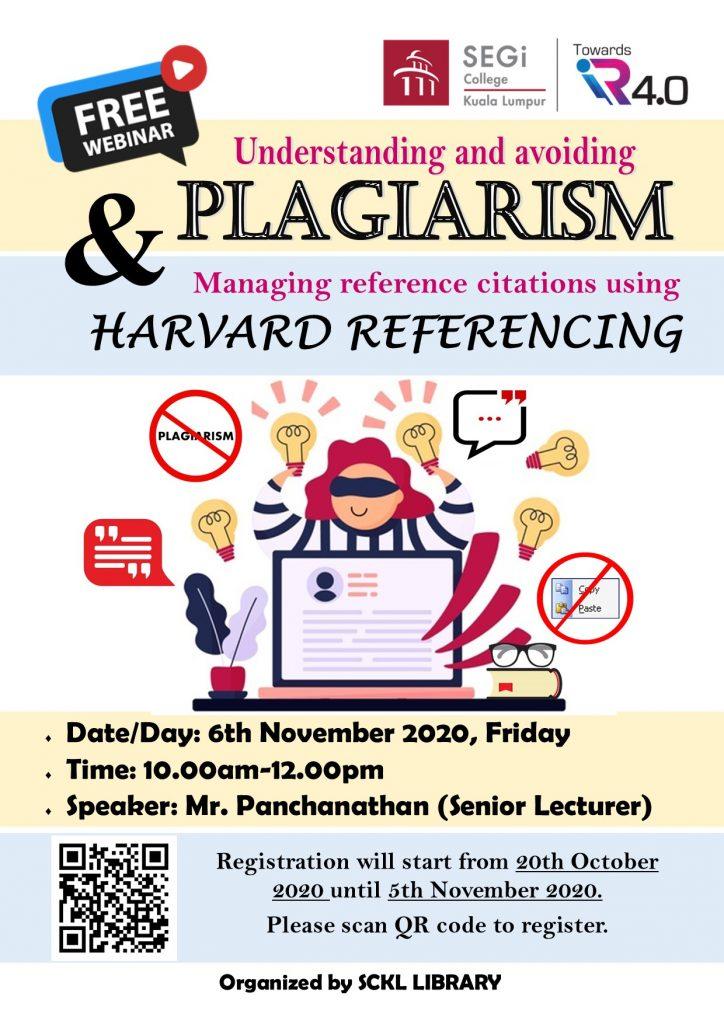 Online Webinar Poster on Understanding Plagiarism